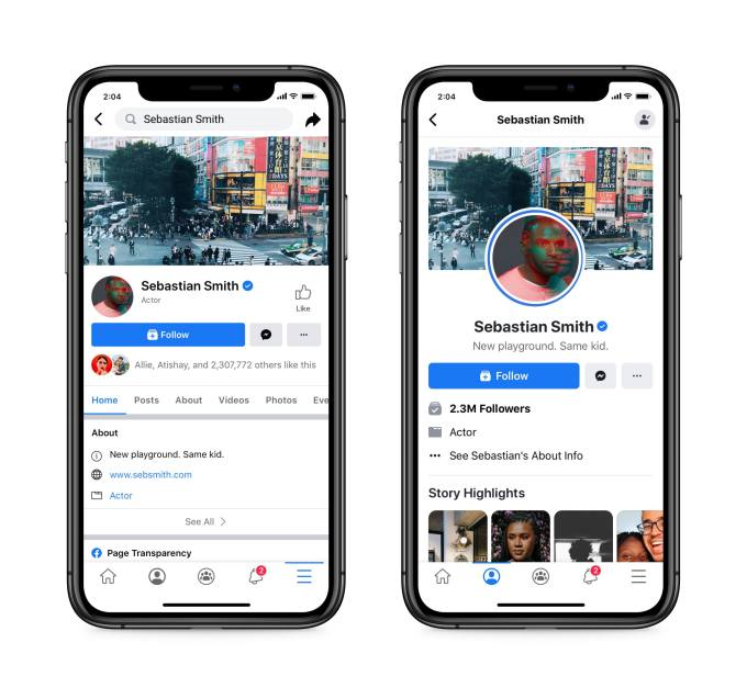 Old vs New Facebook Page Outline